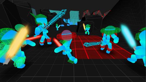 Stickman Multiplayer: Neon Warriors io 1.14 screenshots 1