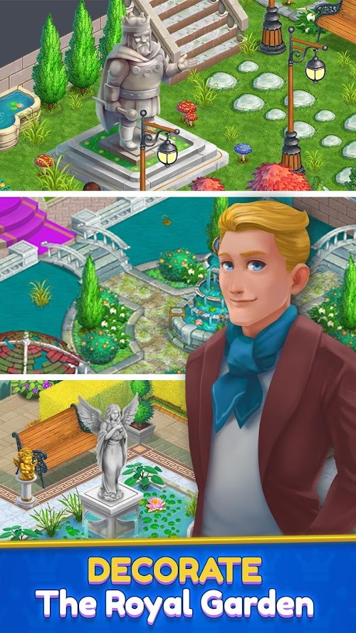 Screenshot 2 Royal Garden Tales - Match 3 Castle Decoration 0.7.7 APK MOD