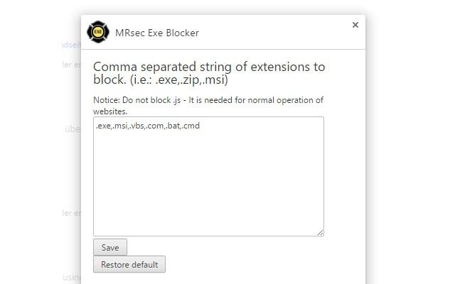 MRsec Exe Blocker