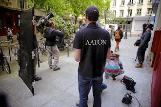 Photo: Un t'shirt désormais collector, depuis la mise en redressement judiciaire d'Aaton