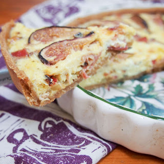 Bacon fig and goats cheese quiche #SundaySupper