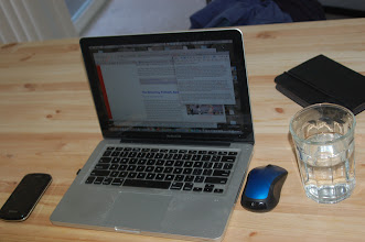 Photo: April 28: The recent work space