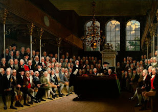 Photo: Both Henry Bankes Junior and Samuel Thornton are in this painting of the House of Commons by Karl Anton Hickel 1793-1795. Pitt the Younger is speaking, Thornton and Bankes would have been sitting on his side as Tories. Samuel is on the front bench in a very dark coat close to Pitt (see full portrait in next slide) National Portrait Gallery