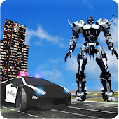 Police Transformation Robot: Police Car Robot Wars