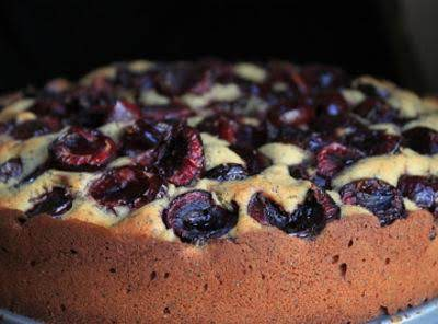 Cherry Poppy Seed Cake With Out Topping