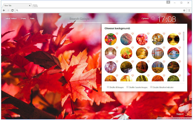 autumn wallpaper hd new tab fall themes chrome web store