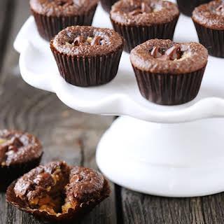 Mini Chocolate Peanut Butter Cupcakes.