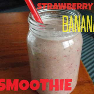 Quick Strawberry-Banana Smoothie