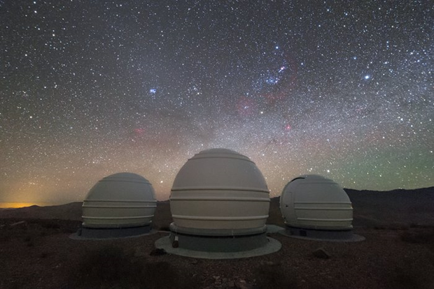 ExTrA telescopes, situated in Chile, will be used to search for and study Earth-sized planets orbiting red dwarf stars.