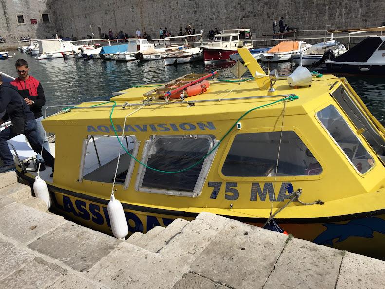 ドゥブロヴニク旧市街 観光船