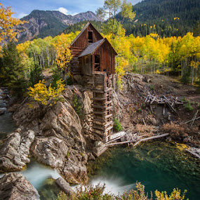 The Fall Waters Wide by James Pion - Landscapes Travel ( pwcfallleaves-dq )