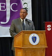 Photo: Chief Justice Roderick Ireland (Supreme Judicial Court) addressed the crowd about the importance of increased civil legal aid, especially in the context of the courts.