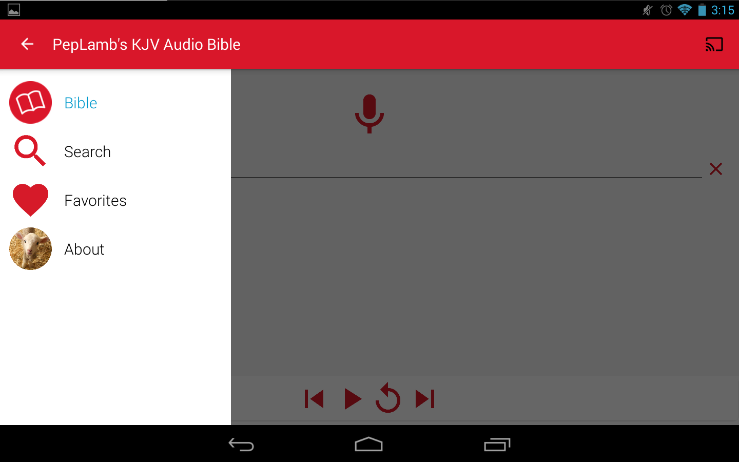 PepLamb's KJV Audio Bible- screenshot