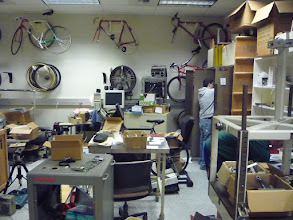 Photo: Cleaning up the Bicycle Lab!