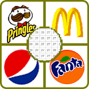 Food Logo Color By Number - Food Logos Pixel Art