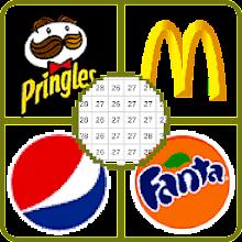 Download App Food Logo Color By Number - Food Logos Pixel