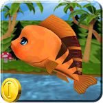 Fish on Water Endless Run Icon