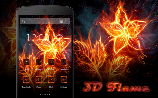 3D Flame-Solo Theme