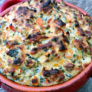 Shrimp + Kale Four Cheese Dip.