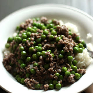 Ground Beef and Peas.