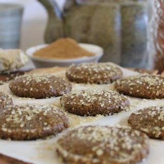 Raw Gingersnap Cookies.