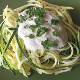 Vegetable Spaghetti with Cashew Cream