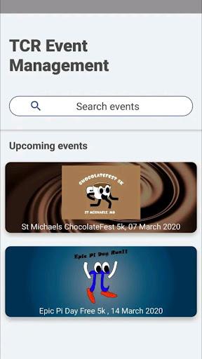 TCR Event Management  captures d'écran 1