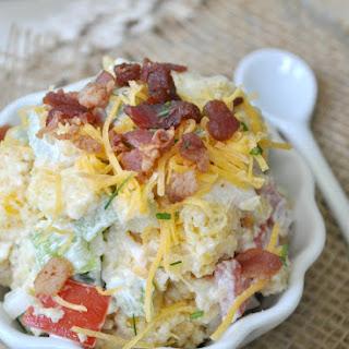 Bacon and Cheese Cornbread Salad.