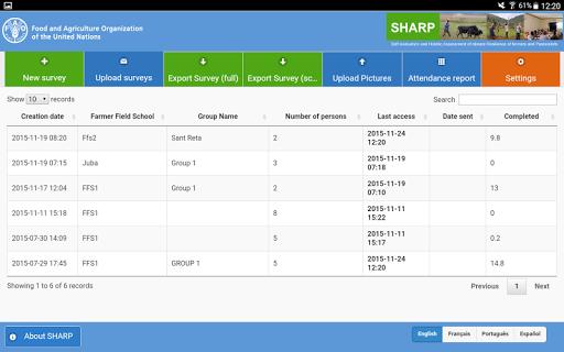 FAO-SHARP screenshot 1