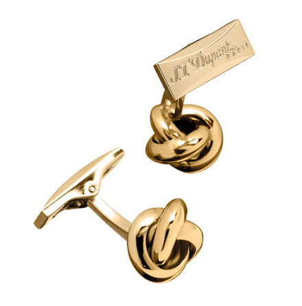 S.T.Dupont Manschettknapp Round Knot Gold
