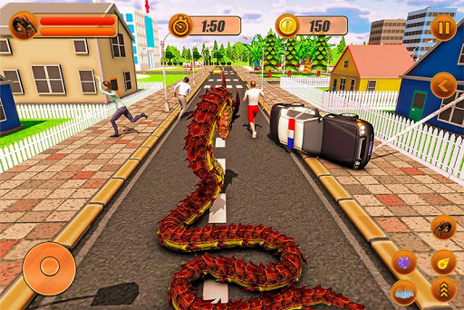 Furious Anaconda Dragon Snake City Rampage 1.0 screenshots 2