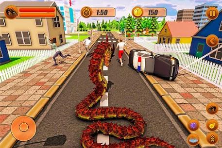 Furioso anaconda dragão serpente cidade rampage 1.0 Mod Apk 2