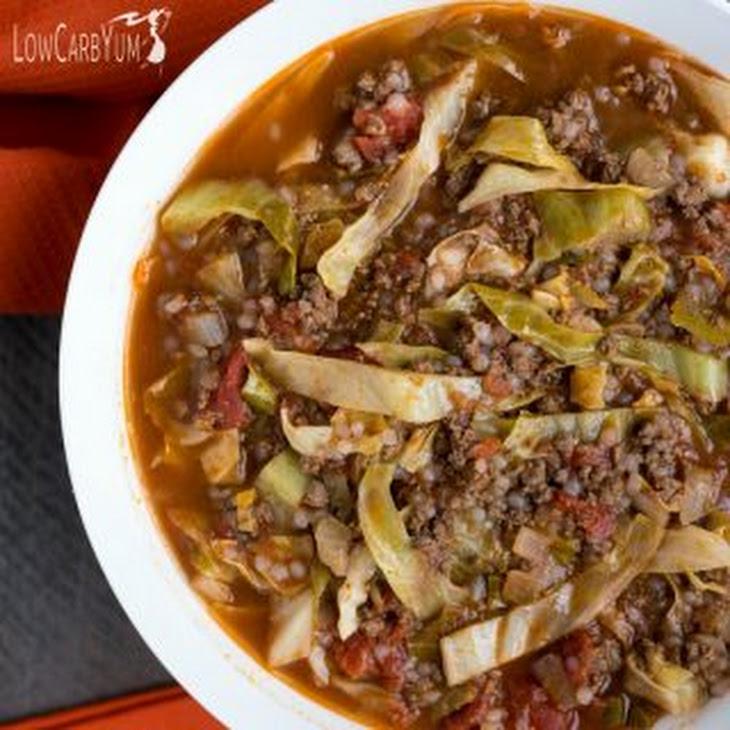 Easy Unstuffed Cabbage Soup Recipe