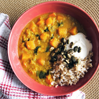 Curried Butternut Squash and Red Lentil Soup Recipe