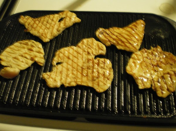 Flip the chicken breasts over and repeat the process  Turn off heat top...