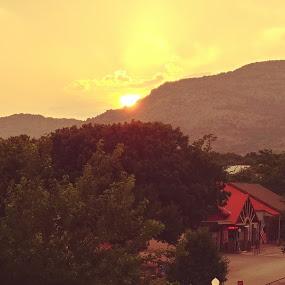 Mountain sunset by Sherry Dennis - Landscapes Sunsets & Sunrises