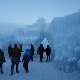 Brrrr by Jolie Ritchie - Landscapes Weather ( snow, winter, groups, ice, cold, ice castle, people )