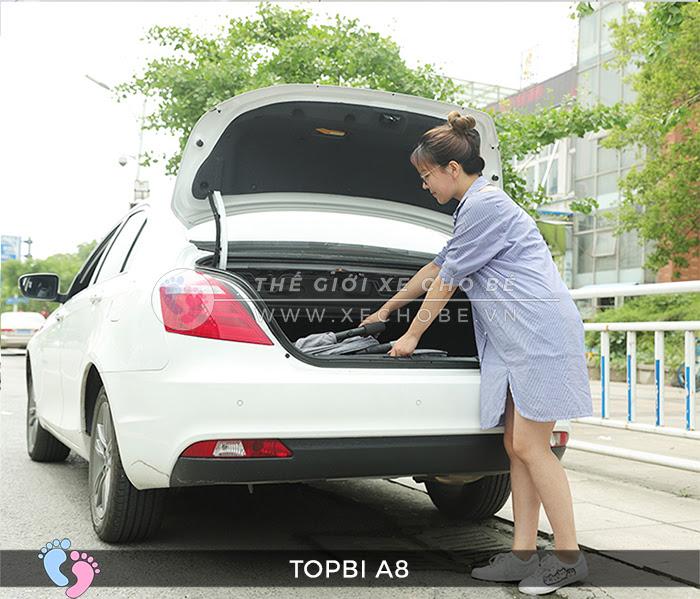 Xe đẩy cho bé Topbi A8 có tay kéo Vali 4