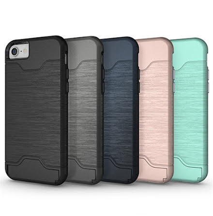 iPhone SE 2020 - Stilsäkert Skyddsskal med Kortfack (JENSEN)