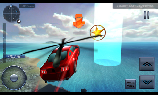 Helicopter Muscle Car Sim 3D