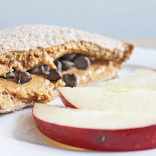 All-Natural Peanut Butter and Chocolate Chip Sandwich.