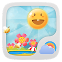 Cute Garden GO Weather Live BG icon