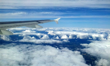 Photo: BACK OVER LAND ... CLOUDS AND BLUE SKIES