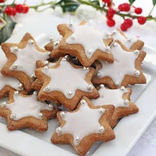 Healthier Gingerbread Star Cookies.