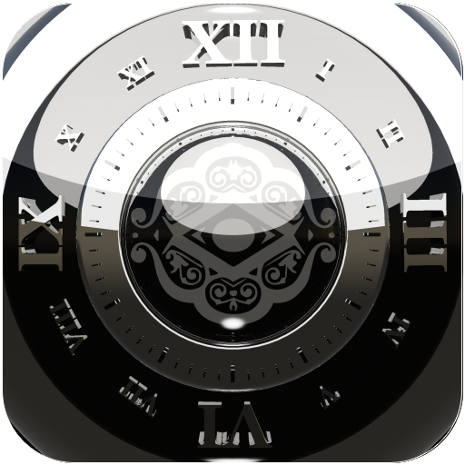 Black Silver 2 Clock Widget