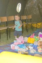 Photo: 11 VI 2011 roku -  kolorowe maskotki przyciągają  dzieci