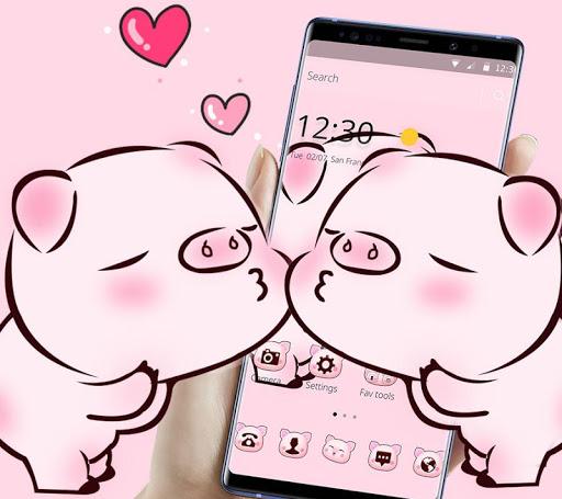 Pink Cute Love Piggy Theme 1.1.9 4