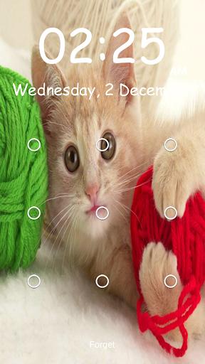 キティ柄の画面のロック