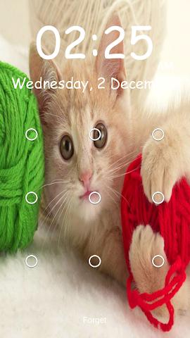 android Kitty Pattern Lock- Screenshot 0