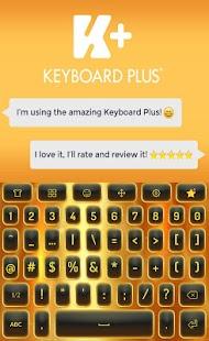 Gold Animated Keyboard - náhled